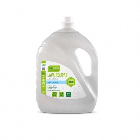 Lava Roupas Hipoalergênico Sensitive Liquido Orgânico 5L - Biowash