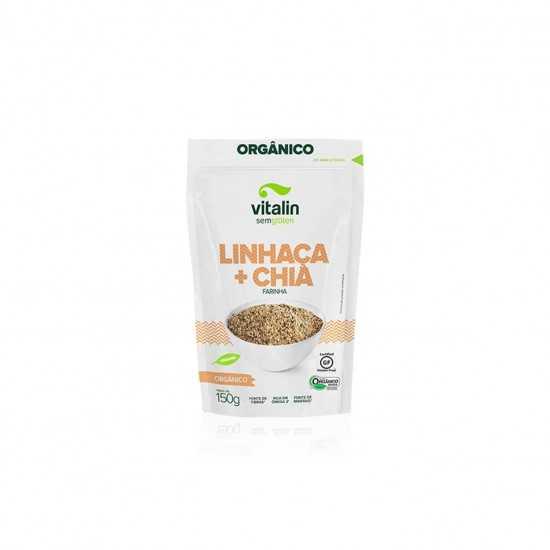 Farinha Linhaça Dourada + Chia Orgânica 150g - Vitalin