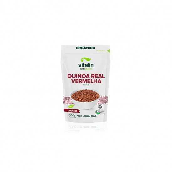 Quinoa Real Vermelha em Grãos Orgânica 200g - Vitalin