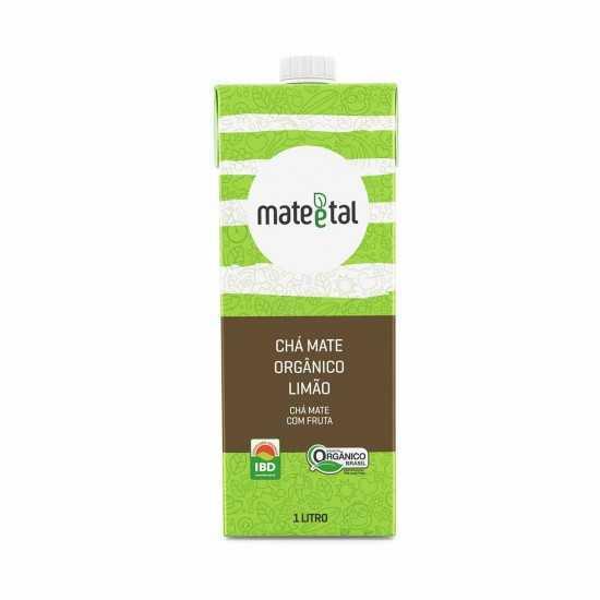 Chá Mate Orgânico com Limão 1L Tetrapak- Mate e Tal