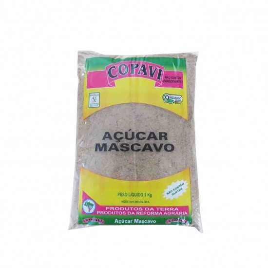 Açúcar Mascavo Orgânico 1kg - COPAVI