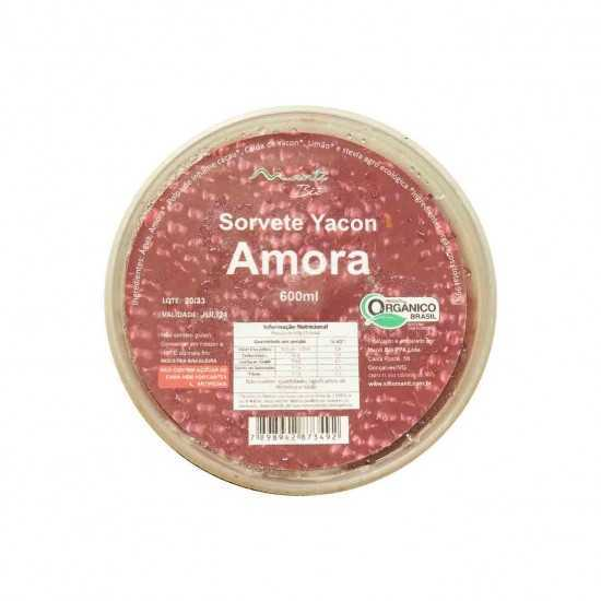 Sorvete de Amora e Yacon Orgânico 600g - Mantí Biô