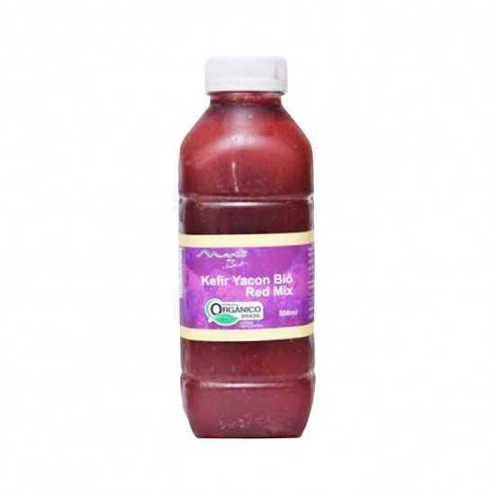 Suco Kefir Yacon Red Mix Orgânico 300ml - Mantí Biô
