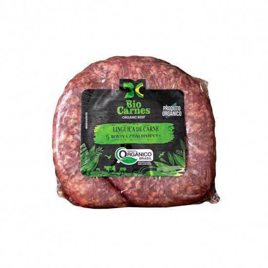 Linguiça Bovina Orgânica Gourmet Tradicional Congelada - Bio Carnes