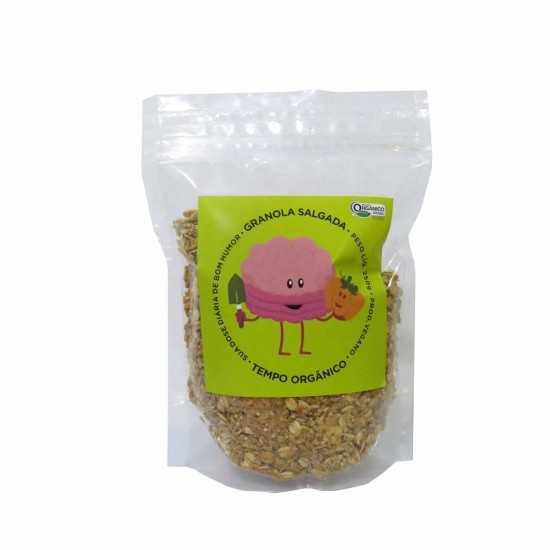 Granola Salgada Orgânica e Vegana 250g - Tempo Orgânico