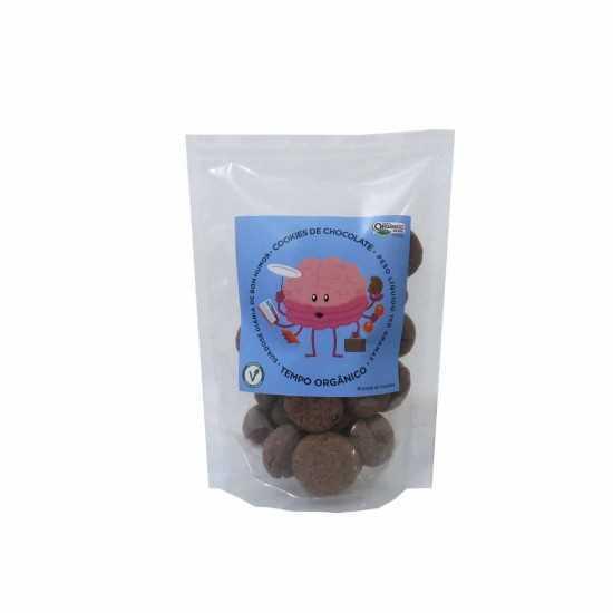 Cookies de Chocolate Orgânico e Vegano 150g - Tempo Orgânicos