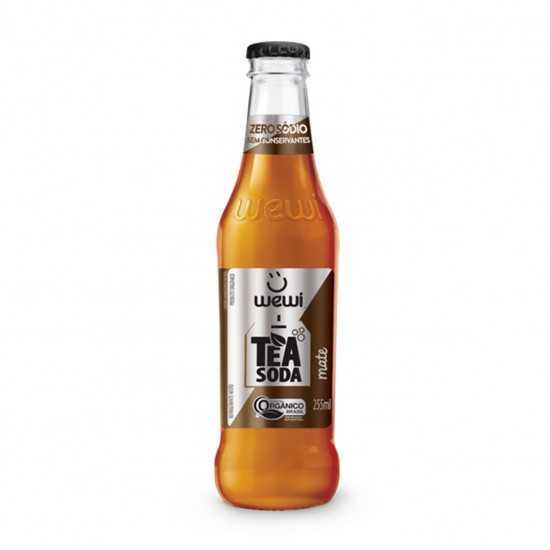 Tea Soda Mate Orgânico 255ml - Wewi