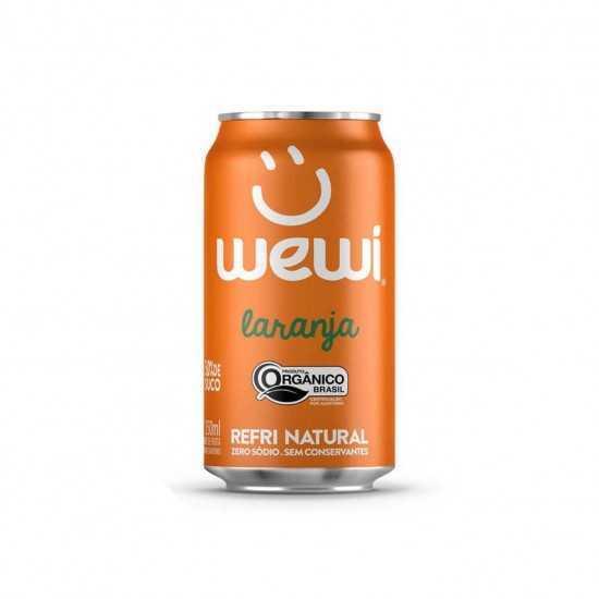 Refri de Laranja Orgânico Lata 350ml - Wewi