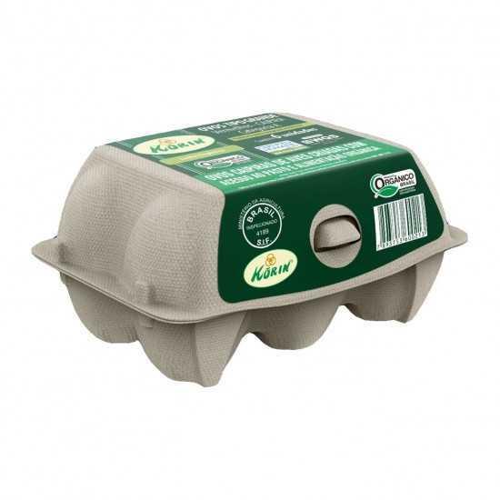 Ovos Orgânicos Caipiras Tipo Médio 6un - Korin