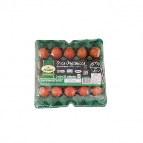 Ovos Orgânicos Caipiras Tipo Médio 20un - Korin