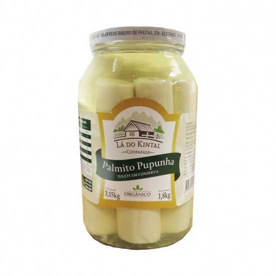 Conserva dePalmito PupunhaTolete Orgânica 1.8kg - Lá do Kintal