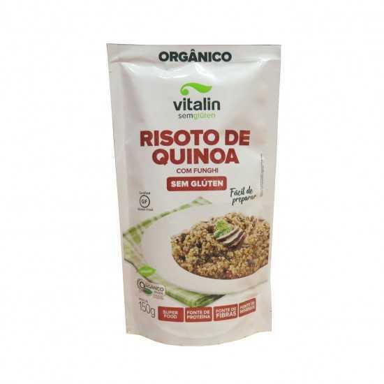 Risoto de Quinoa com Funghi Sem Glúten Orgânica 150g - Vitalin