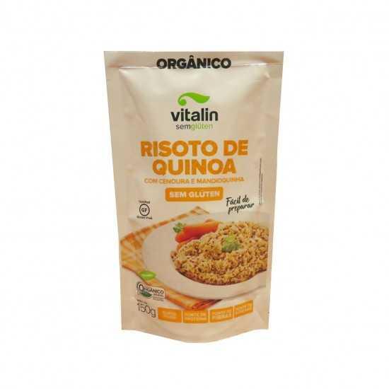 Risoto de Quinoa com Cenoura e Mandioquinha Sem Glúten Orgânica 150g - Vitalin