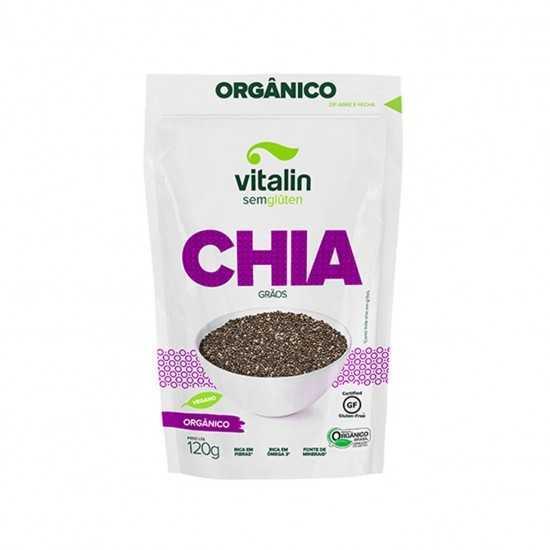 Chia em Grãos Orgânica 120g - Vitalin