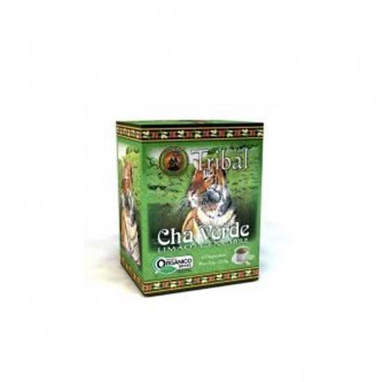 Chá Verde, Limão e Gengibre Orgânico 15 Sachês - Tribal Brasil
