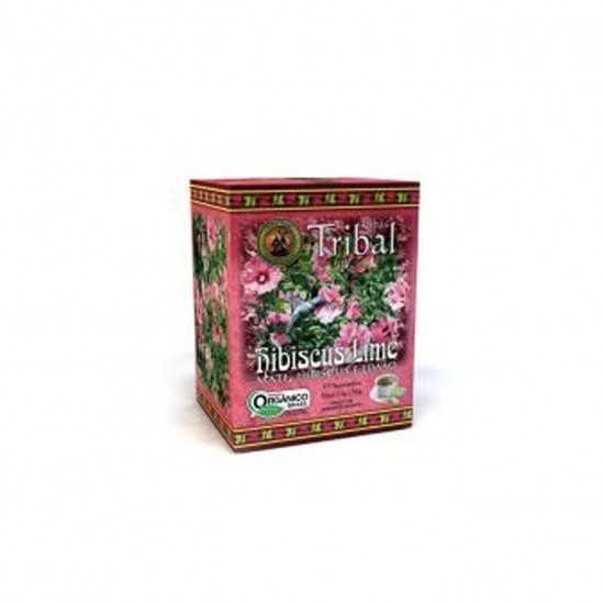 Chá de Erva Mate Hibiscus Lime Orgânico 15 Sachês - Tribal Brasil