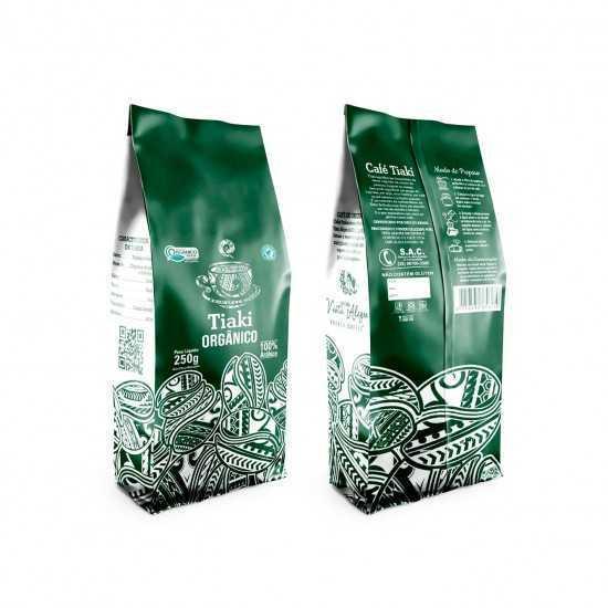 Café Torrado em Grãos Orgânico 250g - Tiaki
