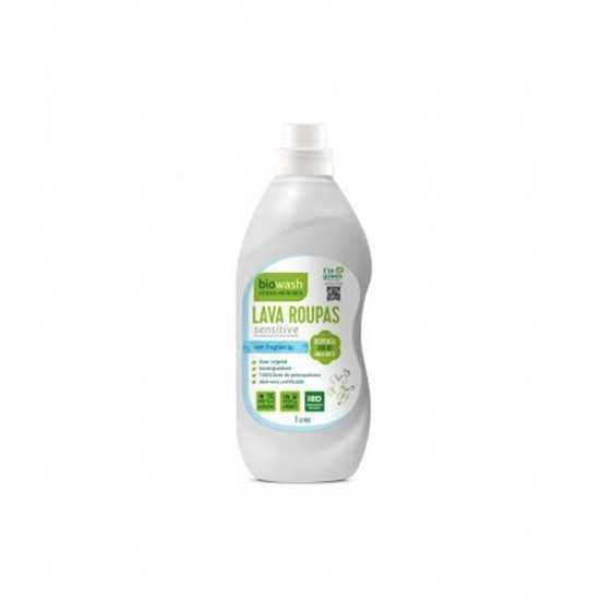 Lava Roupas Hipoalergênico Sensitive Liquido Orgânico 1L - Biowash