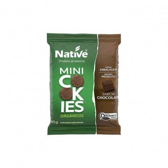 Mini Cookies de Chocolate Orgânico 40g - Native