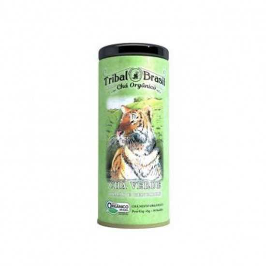 Chá Verde, Limão e Gengibre Orgânico 30 Sachês - Lata - Tribal Brasil