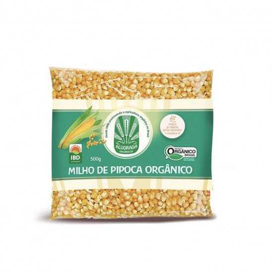 Milho de Pipoca Amarelo Orgânico 500g - Alvorada