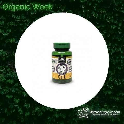 Cápsulas de Chia Orgânico 630mg (90un) - Kampo de Ervas
