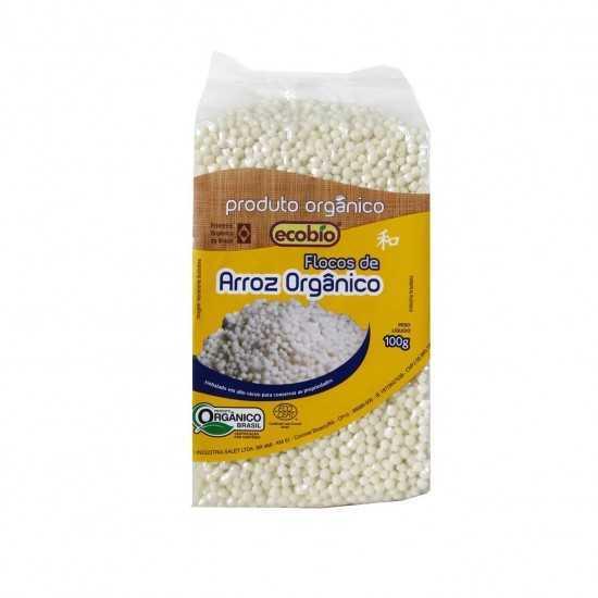 Flocos de Arroz Orgânico 100g - Ecobio