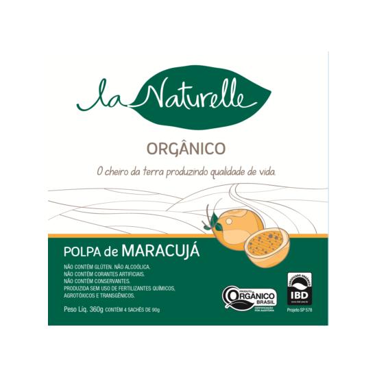 Polpa de Maracujá Orgânica - Un 90g - La Naturelle
