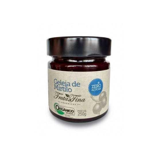 Geleia de Mirtilo Sem Açúcar Orgânica 250g - Fruta Fina