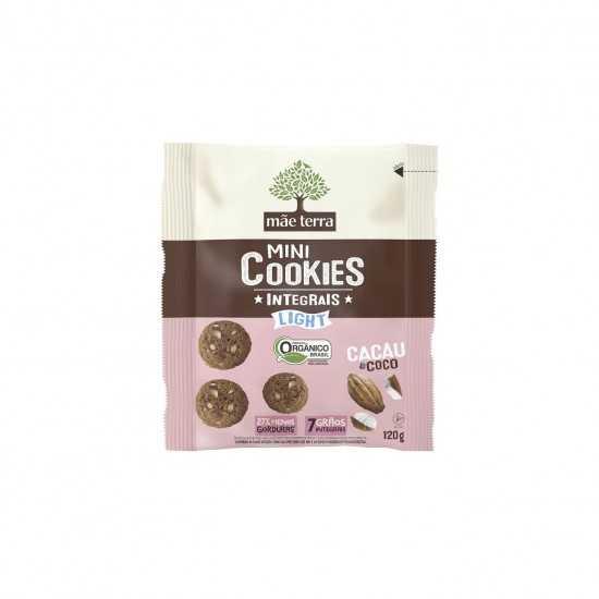 Mini Cookies Integrais com Cacau e Coco Light Orgânico 120g - Mãe Terra