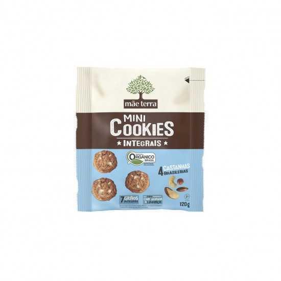 Mini Cookies Integrais 4 Castanhas Orgânico 120g - Mãe Terra