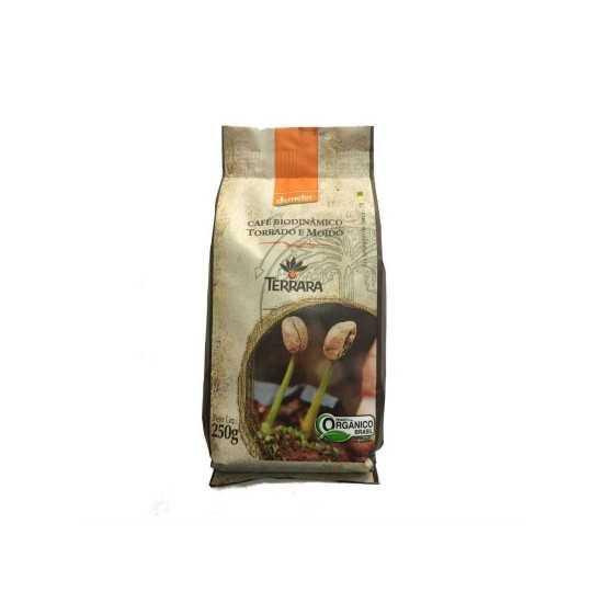 Café Torrado e Moído Orgânico e Biodinâmico 250g - Terrara