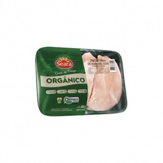 Filé de Peito de Frango Orgânico Congelado em Bandeja 600g - Seara