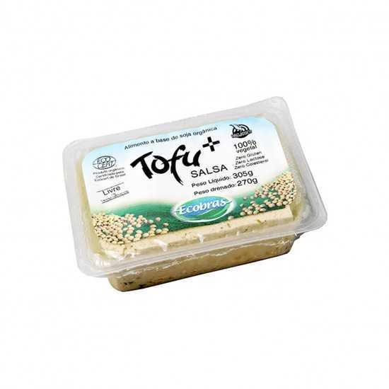 Tofu Firme Temperado com Salsa Orgânico 270g - Ecobras