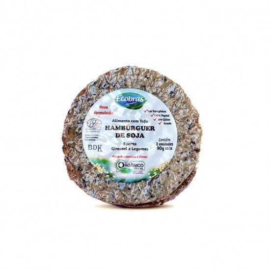 Tofuburguer Sparta com Semente de Girassol e Legumes Orgânico 180g - Ecobras