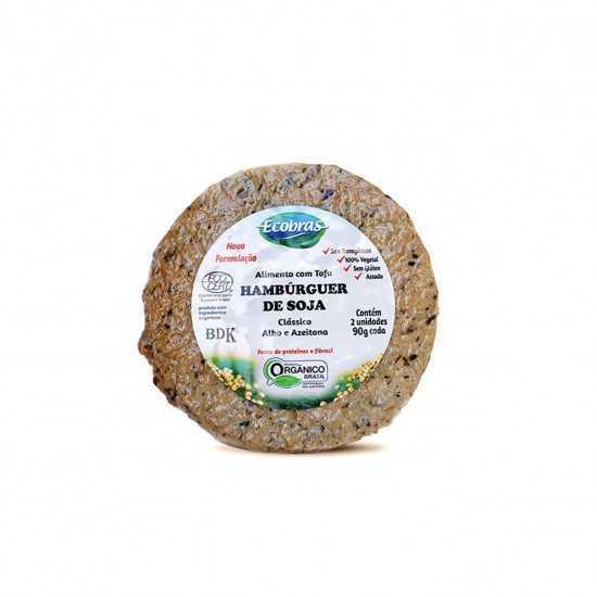 Tofuburguer Clássico com Azeitona e Alho Orgânico 180g - Ecobras
