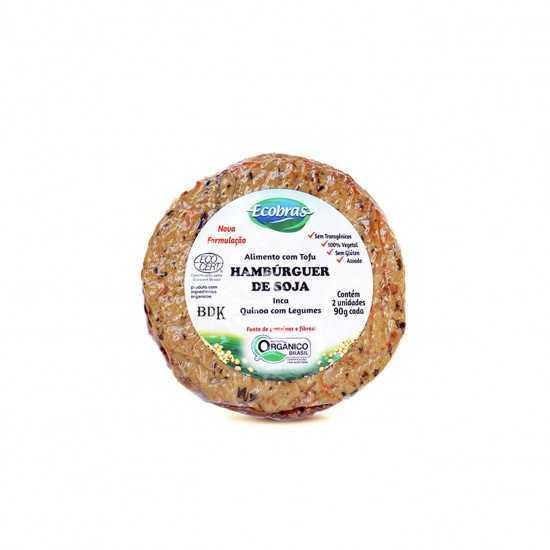 Tofuburguer Inca com Quinoa e Legumes Orgânico 180g - Ecobras