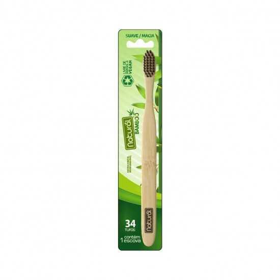 Escova Dental de Bamboo e Carvão Ativado Un - Orgânico Natural