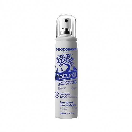 Desodorante Natural com Extratos de Pepino e Chá Verde 120ml - Orgânico Natural