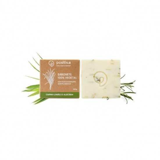 Sabonete Vegetal de Capim Limão e Alecrim 100g - Positiva