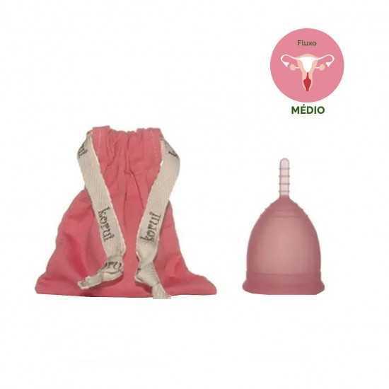 Coletor Menstrual Rosa Médio Un - Korui