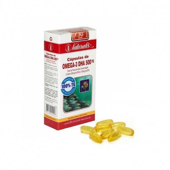 Omega-3 DHA 500 com 30 cápsulas - Naturalis