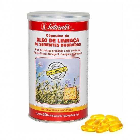 Óleo de Linhaça Dourada 200 cápsulas - Naturalis