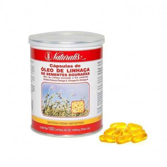 Óleo de Linhaça Dourada 100 cápsulas - Naturalis
