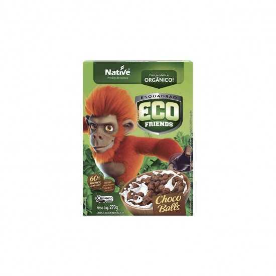 Cereal Orgânico Eco Friends Choco Balls 270g - Native