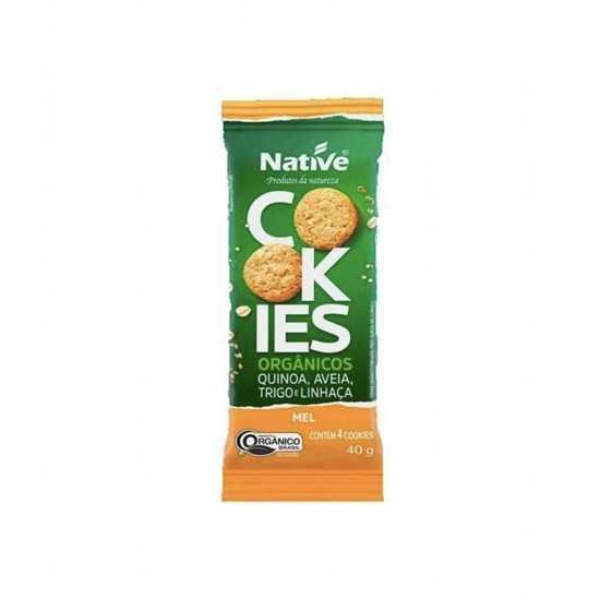 Cookies de Quinoa, Aveia, Trigo, Linhaça e Mel Orgânicos 40g - Native
