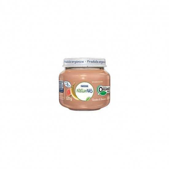 Naturnes - Papinha de Banana e Goiaba Orgânica 120g - Nestle Orgânicos
