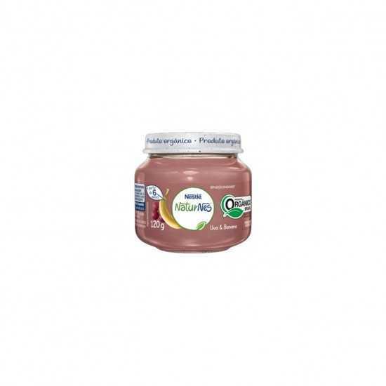 Naturnes - Papinha de Uva e Banana Orgânica 120g - Nestle Orgânicos