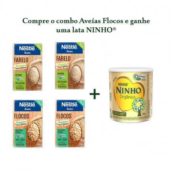 Compre 2 Farelos + 2 Aveias Flocos e Ganhe 1 Lata Ninho - Nestle Orgânicos