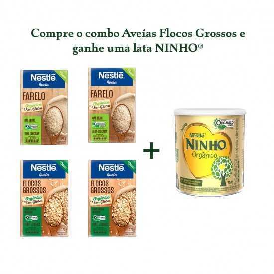 Compre 2 Farelos + 2 Aveias Flocos Grossos e Ganhe 1 Lata Ninho - Nestle Orgânicos